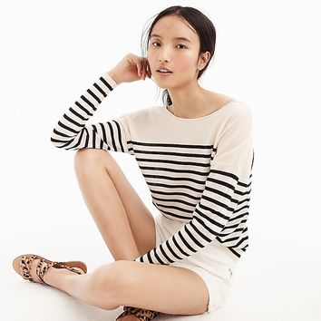 Striped V-back pullover sweater in merino wool : Women just in | J.Crew