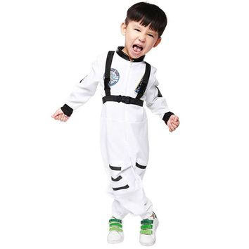 New white Kids Space Astronaut COS Costume Halloween Cosplay Children Disfraces Masquerade Hot Sale Kids Clothes 5088H177439