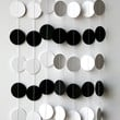 Black and white circle garland, Birthday decoration, Men birthday, Boy's birthday party, Wedding garland, Black white wedding, K-C-0006
