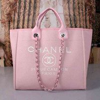 CHANEL Women Shopping Bag Leather Satchel Tote Handbag Shoulder Bag