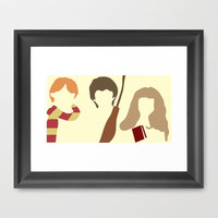 Harry Potter Gang Framed Art Print by Apricot | Society6