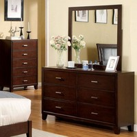 Immaculate Wooden Designer Dresser In Contemporary Style,  Brown Cherry