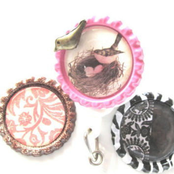 Removable Badge Covers, Three Badge Covers, Retractable Badge Covers