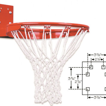 First Team Heavy Duty Rear Mount Fixed Basketball Goal FT170R
