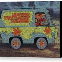 The Scooby Doo Mystery Machine Where Are You Song Lyrics Mosaic Print Limited Edition