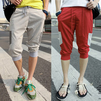 Cropped Street Style Summer Jogger Shorts with String