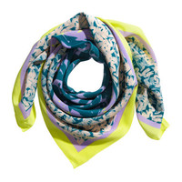H&M Patterned silk scarf £29.99