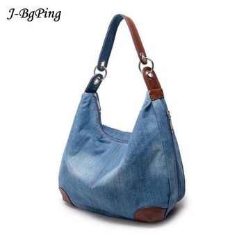 2018New Fashion Large Luxury Handbags Women Bag Designer Ladies Hand bags Big Purses jeans bagTote Denim Shoulder Crossbody sac