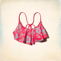 Floral Ruffle Swim Top