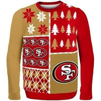 San Francisco 49ers Busy Block Ugly Sweater Size L w/ Priority Shipping