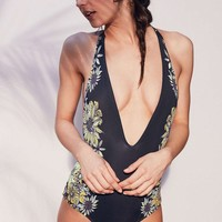 Summer Hot New Arrival Swimsuit Beach Sexy Swimwear Backless Floral Bikini [8678839501]