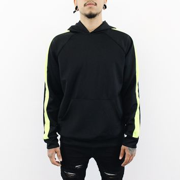 Gerry Striped Hoodie(Black/Lime)