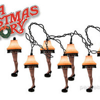 A CHRISTMAS STORY LEG LAMP STRING LIGHTS