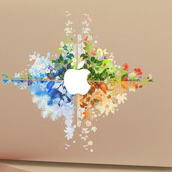 Flower - macbook decal  macbook pro decals retina decal cover Laptop macbook air decal sticker macbook pro decal  mac decals skin stickers