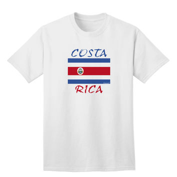 Costa Rica Flag Adult T-Shirt