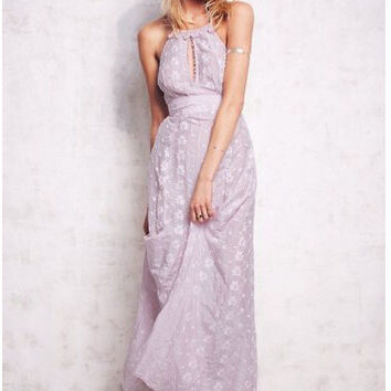 Prom Dress Backless Embroidery One Piece One Piece Dress [6339027841]