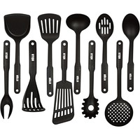 10-Piece Nylon Kitchen Utensils Cooking Tool Set - Classic Black