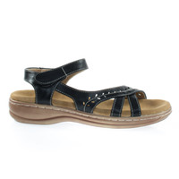 Cassidy38 Black by Forever Link Comfort Foam Padded Foot Bed, Active Open Toe Huarache Flat Sandal