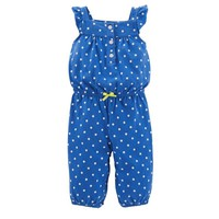 Carter's Polka Dot Bow Coverall - Baby