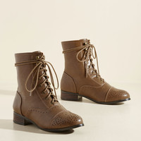 Flaunt Your Footwork Boot in Caramel | Mod Retro Vintage Boots | ModCloth.com