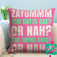 Nash Grier Notice Zippered Pillow Case, Cushion Case, Pillow case