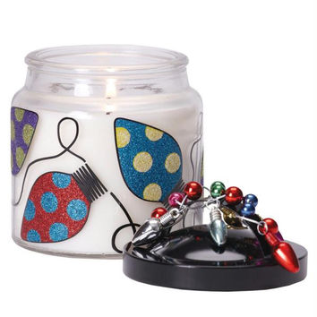 2 Glass Jar Christmas Candles - Scented