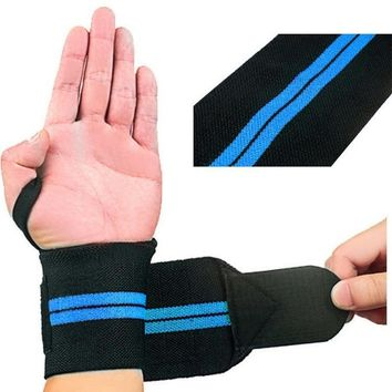 Hand Bands Fitness Wrist Bracer Adjustable Opening Design Sports Gym Weight Lifting Winding Wristband Wrist Support Bandage Wrap