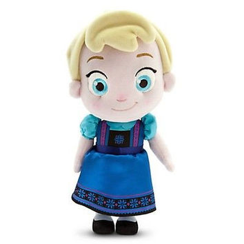 "disney store original frozen 13"" elsa small toddler plush doll toy new with tag"