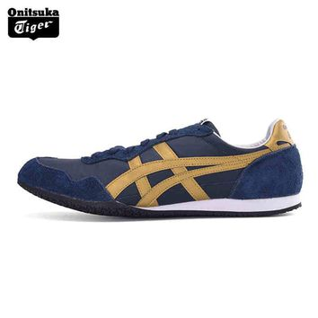 qiyif Top Quality Onitsuka Tiger Breathable Men Sport Shoes SERRANO Men Sneakers Lightweight Outdoor Men Jogging D109L