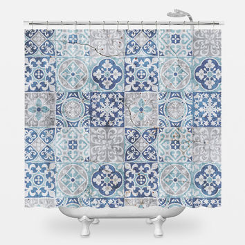 Tile Pattern Shower Curtain