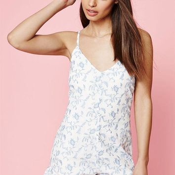 DCCKJH6 Kendall and Kylie Embroidered Ruffle Romper