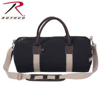 "19"" Canvas & Leather Gym Bag"