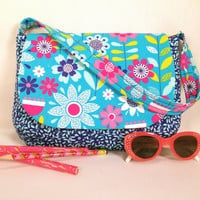 Little Girl Fabric Purse, Girl Cloth Shoulder Handbag