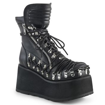 Demonia - CLASH-150 - Black Vegan Leather - Women's Ankle Boots