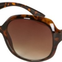 GA4565 Retro Vintage Oversized Frame Fashion Sunglasses - Tortoise Brown - Smoke Lens