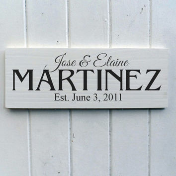 Bespoke Family Name Established Sign Ideal Anniversary Or Wedding Gift