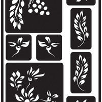 "berries reusable glass etching stencil - 5"" x 8"""