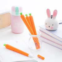0.5mm Novelty Fresh Carrot Gel Ink Pen Promotional Gift Stationery School & Office Supply Birthday Gift