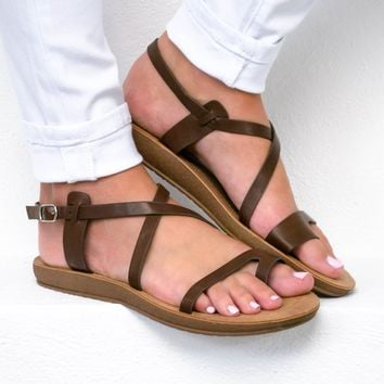Lemon Brown Loop Sandal