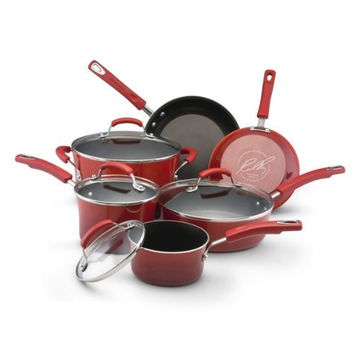 Rachael Ray Enamel Nonstick 10-Pc Cookware Set