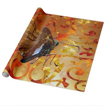 Autumn Epargyreus Clarus Butterfly Wrapping Paper