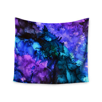 "Claire Day ""Soul Searching"" Purple Blue Wall Tapestry"
