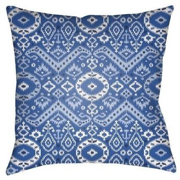 Lima Blue Outdoor Pillow