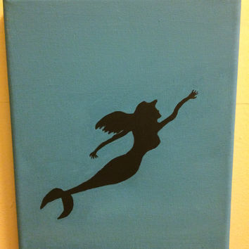 Disney Princess Canvas Silhouette- Ariel