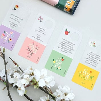 Korean literature flower clear bookmark