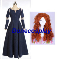 Princess Brave Merida Cosplay costume cosplay wig Halloween Costume princess dress