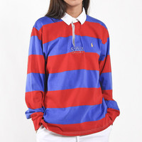 Vintage Polo Striped Collared Shirt