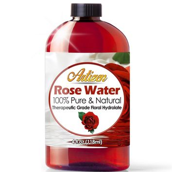 [4 fl oz] 100% Pure Rose Water (HUGE 4 OUNCE BOTTLE) Natural Moroccan Rosewater - Beautiful Fresh Fragrance -...