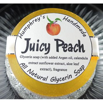 JUICY PEACH Soap | Women's Shave Soap | Fresh Georgia Peaches