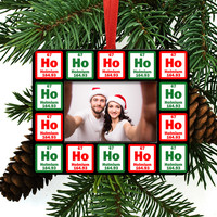 Ho Ho Ho Periodic Table of Element Christmas Tree Ornament / Picture Frame